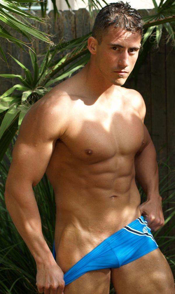 Man taking off his underwear