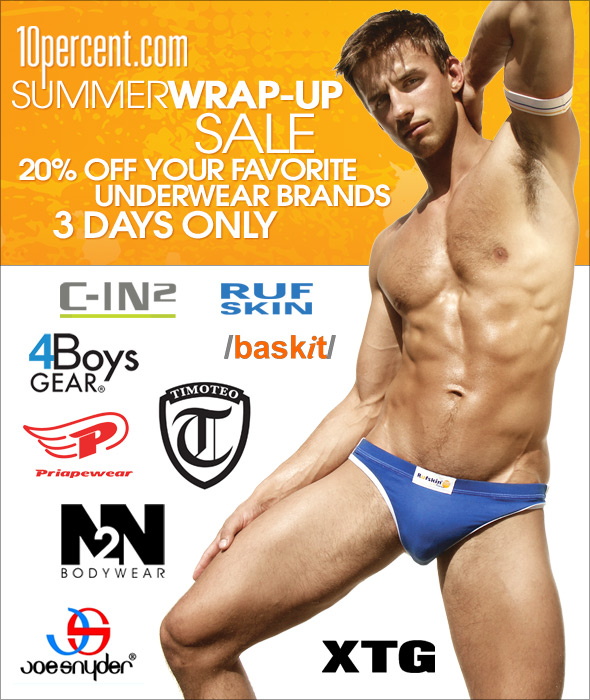 10 Percent Underwear Sale