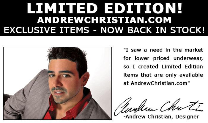 Andrew Chrisitan Limited Edition Underwear