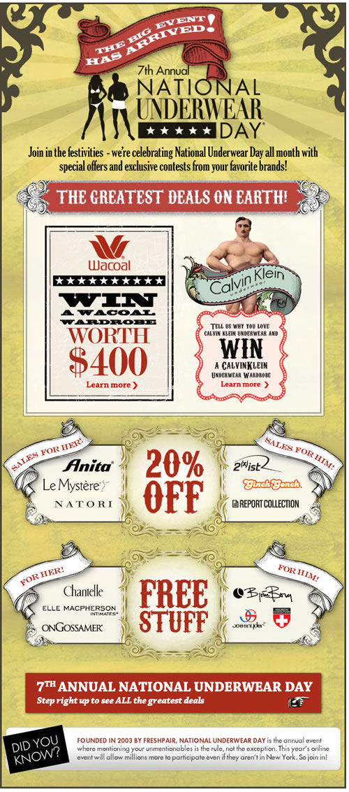 Fresh Pair.com's National Underwaer Day Sale