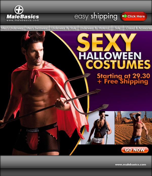Male Basics Sexy halloween costumes from Candyman